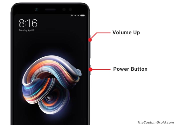 Boot Redmi Note 5 Pro Recovery Mode using Buttons