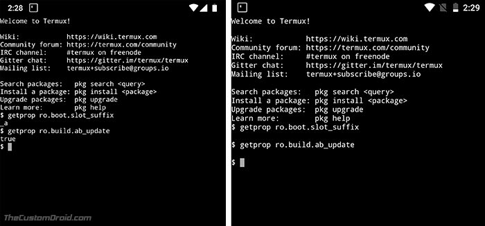 How to Check Seamless Updates Support on Android using Terminal Emulator