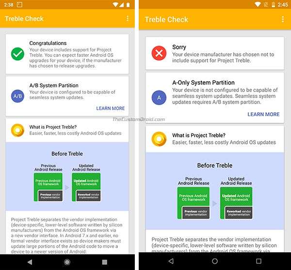 How to Check Seamless Updates Support on Android using Treble Check