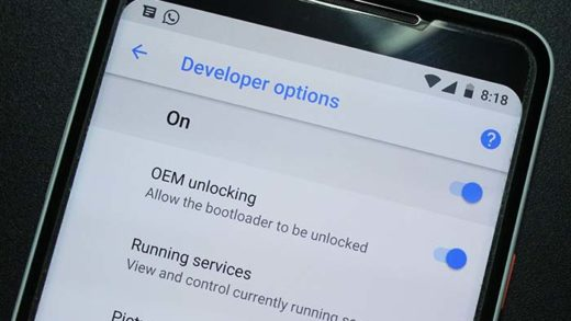 Enable OEM Unlocking on Android