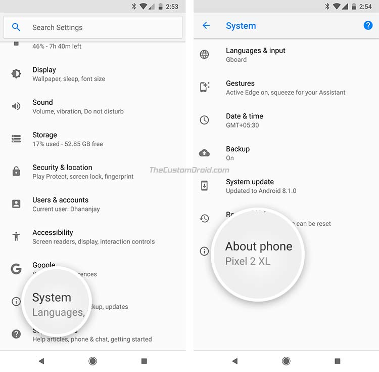 Enable OEM Unlocking on Android - Developer Options - 1