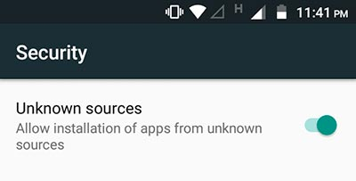 Enable Unknown Sources to Install Google Markup App
