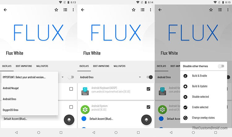 Get Android P Features - Flux White Theme