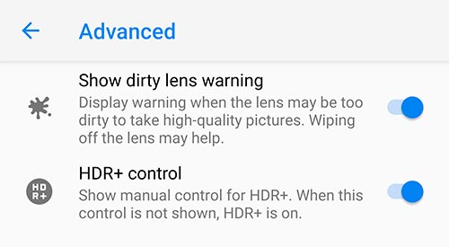 Google Camera 5.2 Update - Dirty Lens Warning