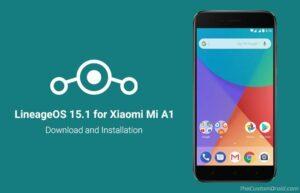 Install LineageOS 15.1 on Xiaomi Mi A1