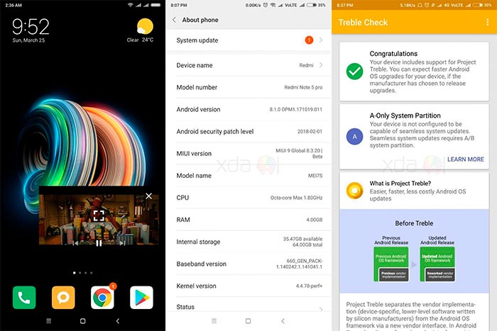 Install MIUI 9 Oreo Beta on Redmi Note 5 Pro - Screenshots