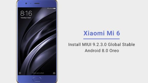 Install Xiaomi Mi 6 MIUI 9.2.3.0 Global Stable ROM - Android Oreo