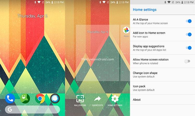 Android Go Pixel Launcher Screenshots