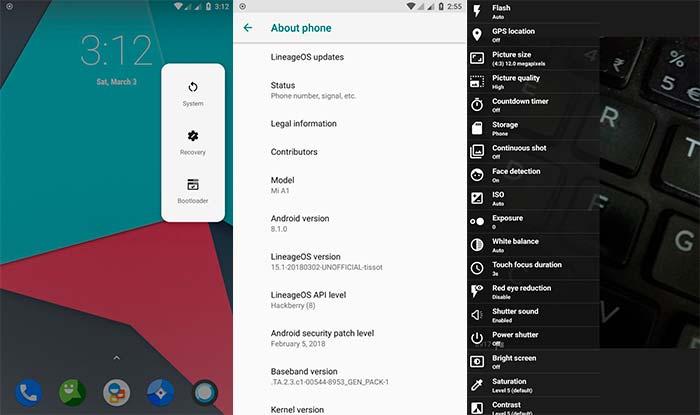 Cuatom ROM Terbaik untuk Xiaomi Mi A1 - LineageOS 15.1 ROM