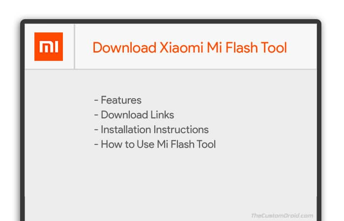 Download Mi Flash Tool - XiaoMiFlash - 2018