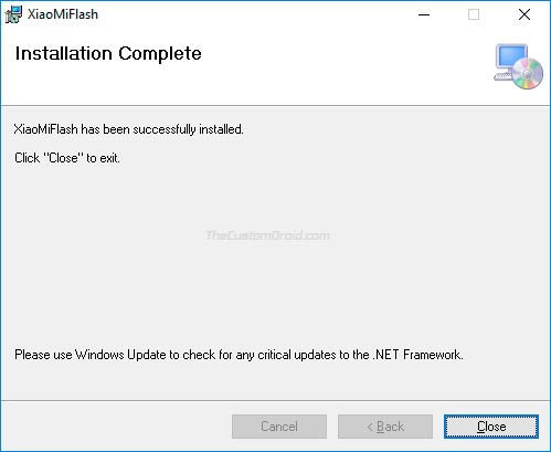 Download Mi Flash Tool and Installation - Step 3