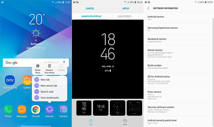 Galaxy A5 2017 Android 8.0 Oreo Update Screenshots