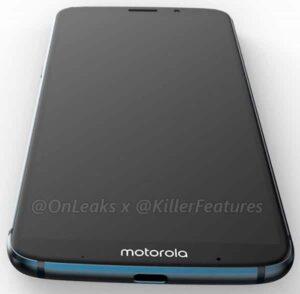 Moto Z3 Play Renders - Front-Bottom