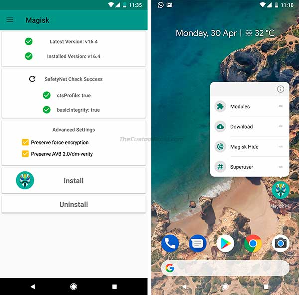 Download Magisk 16.4 Beta and Magisk Manager 5.7.0 - Screenshots