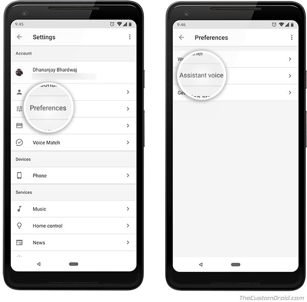 How to Change Google Assistant Voice on Android - 2