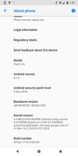 Install May 2018 Security Patch - OTA Screenshot