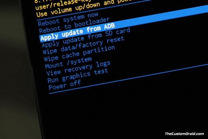 Install Moto Z2 Play Android Oreo OTA using Stock Recovery