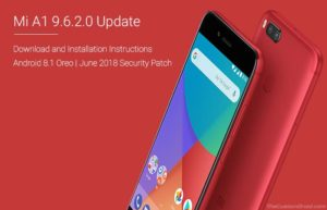 Download Xiaomi Mi A1 9.6.2.0 Oreo Update (June 2018 Security Patch)