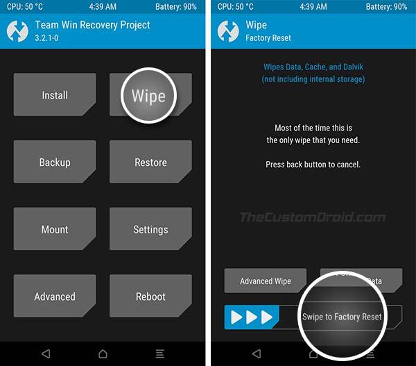 Install Redmi Note 4 MIUI 10 China Beta ROM - TWRP Wipe