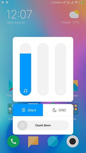 Install Redmi Note 4 MIUI 10 China Beta ROM - Volume Slider Screenshot