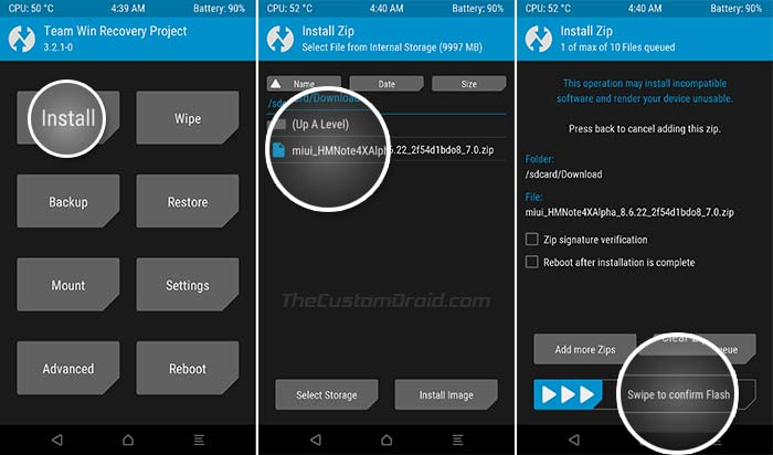 Install Redmi Note 4 MIUI 10 China Beta ROM using TWRP