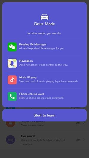 MIUI 10 China Developer ROM - Drive Mode Screenshot