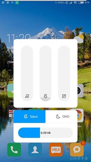 MIUI 10 China Developer ROM - Volume Slider Screenshot