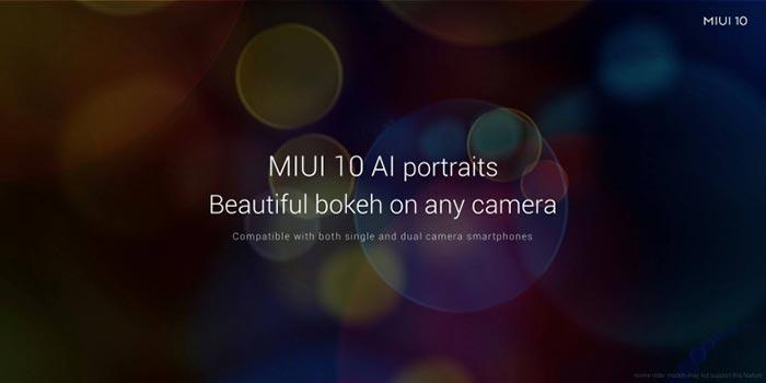 MIUI 10 Features - AI Portrait