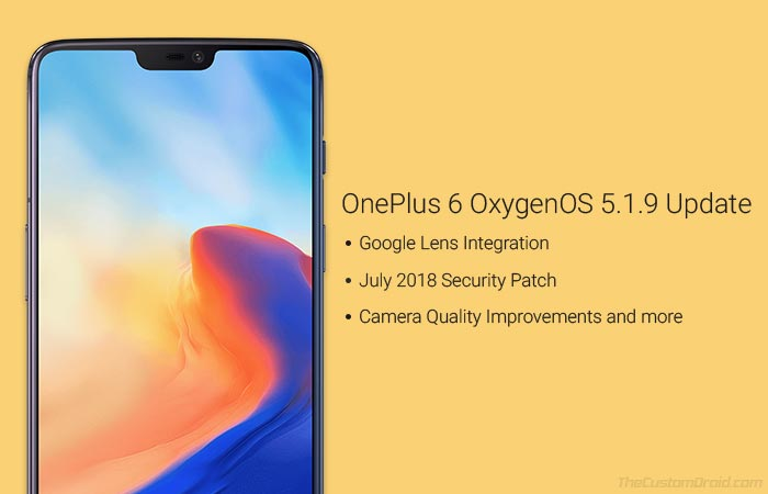 Download OnePlus 6 OxygenOS 5.1.9 Update
