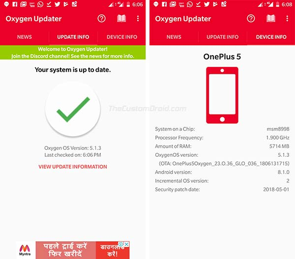 Get OxygenOS Updates Immediately - Oxygen Updater App - Screenshot 3