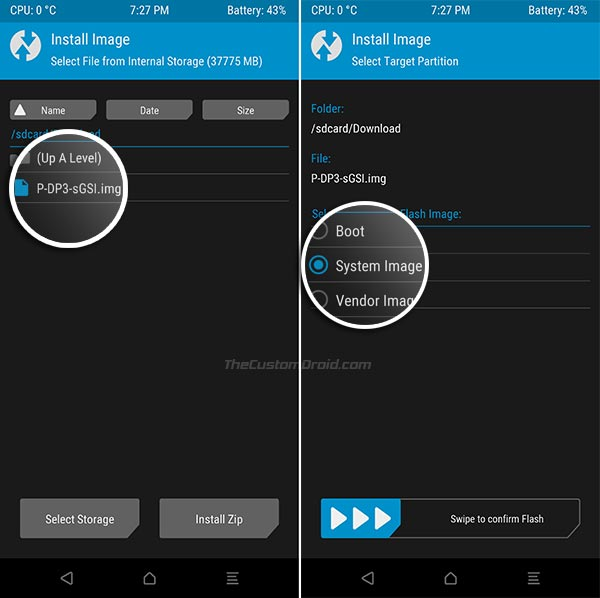 How to Install Android 9.0 P GSI using TWRP-2