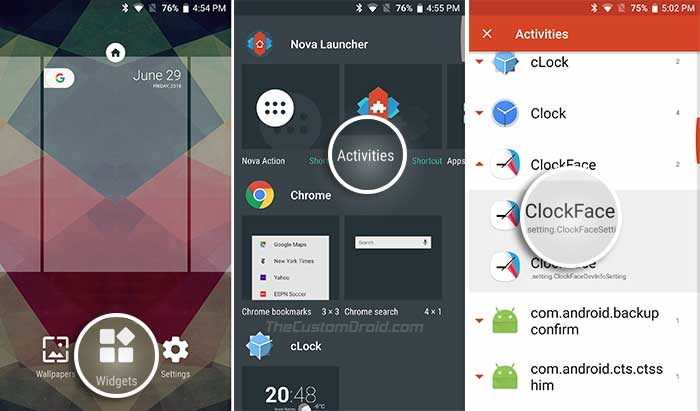 Launch Samsung Good Lock 2018 Add-ons using Nova Launcher