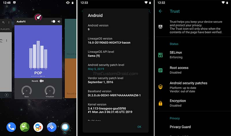 Android Pie-based LineageOS 16.0 on OnePlus One - Screenshots