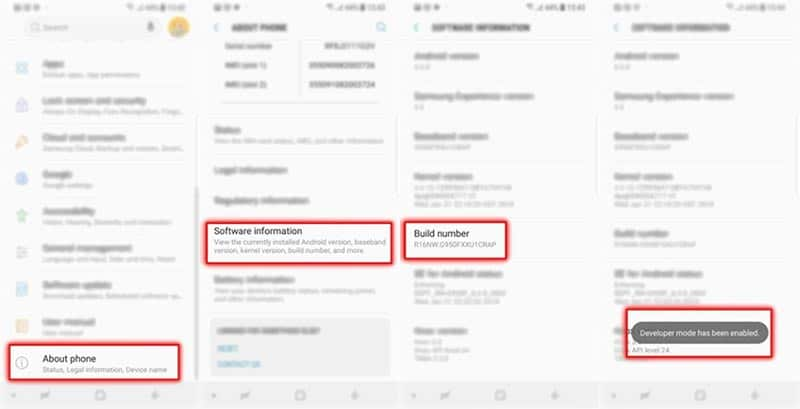 Root Samsung Galaxy S9: Enable Developer Options on Samsung Galaxy S9