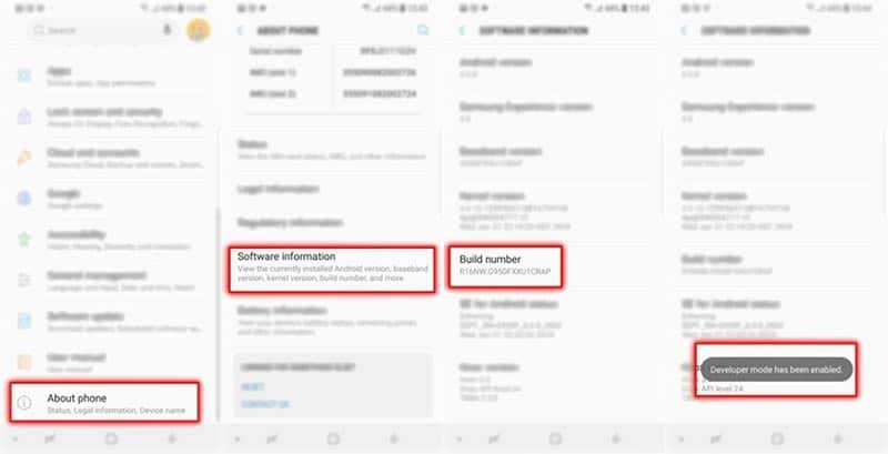 Root Samsung Galaxy S9: Ativar Opções de Desenvolvedor no Samsung Galaxy S9