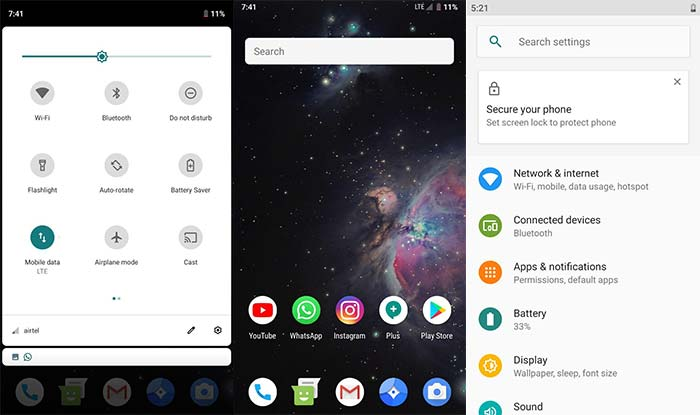 Android Pie-based LineageOS 16 on Redmi Note 4 - Screenshots