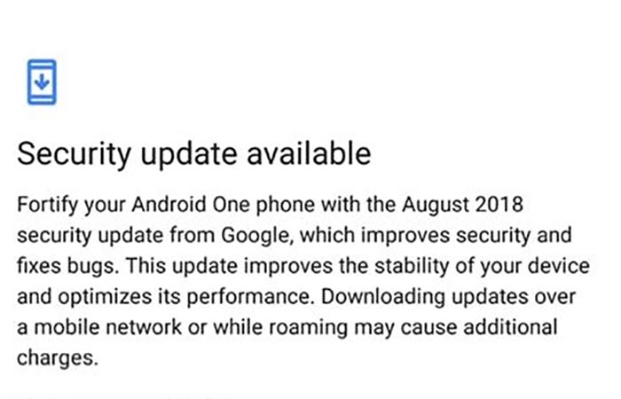 August 2018 Security Update for Xiaomi Mi A1 Rolling Out Now