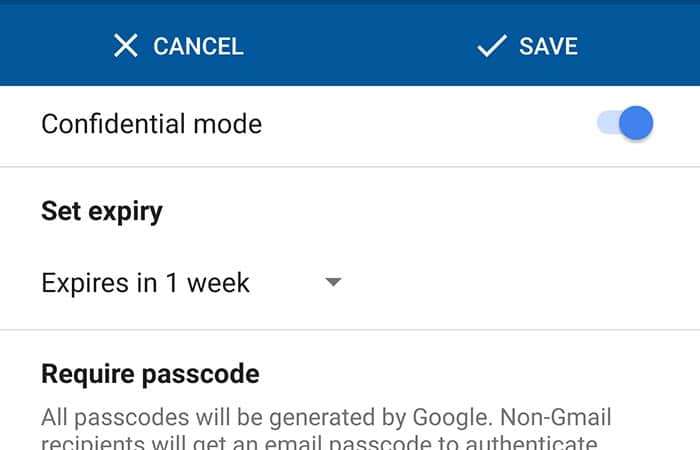 Google Introduces Confidential Mode in Gmail Android App