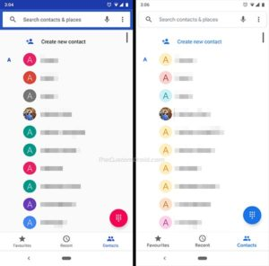 Google Phone v23 - Contacts with no profile pictures