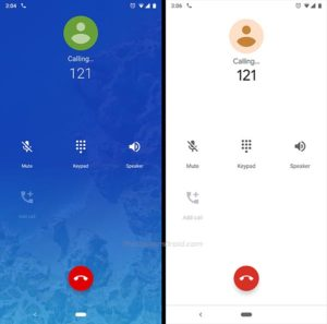 Google Phone v23 - In-Call UI