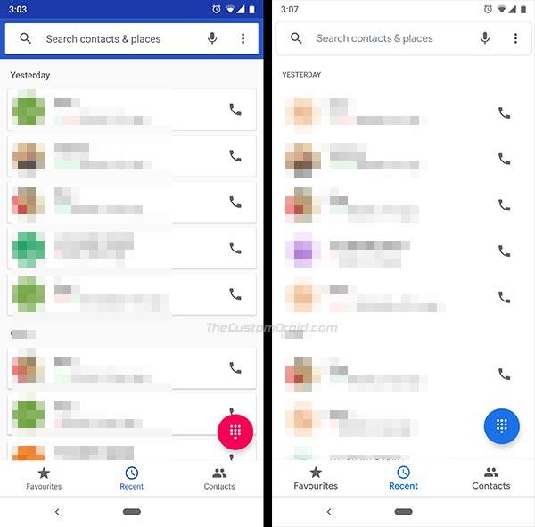Google Phone v23 - Recent Calls List