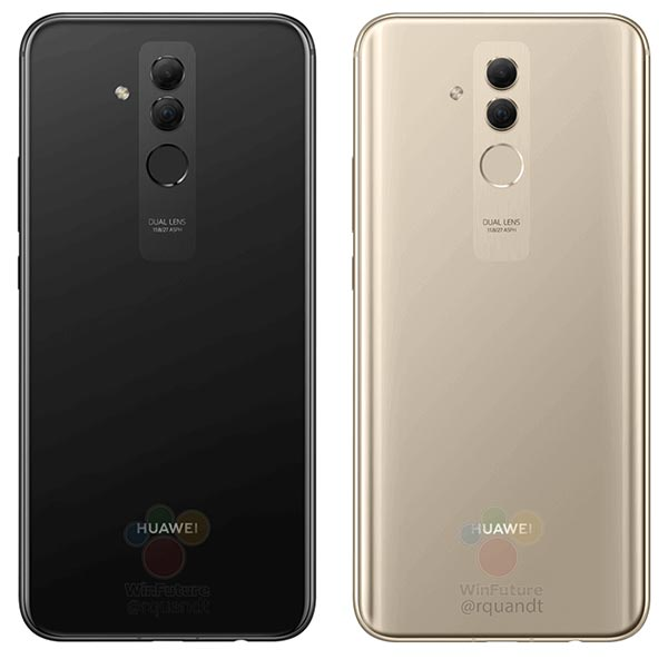 Huawei Mate 20 Lite Color Variants - Black and Gold