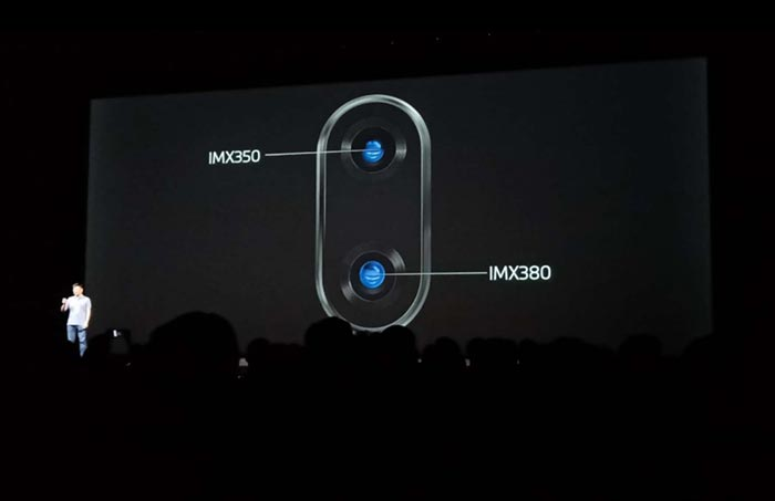 Meizu 16 - Camera - 12MP IMX380 sensor and 20MP IMX350 sensor
