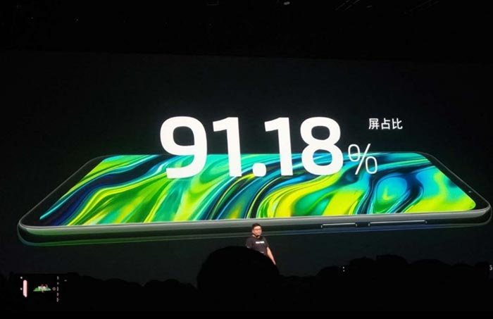 Meizu 16 -Display with 91.18% screen-to-body ratio