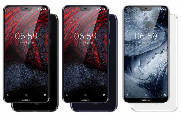 Nokia 6.1 Plus Color Options