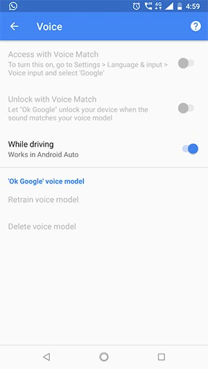 Ok Google Greyed Out - Screenshot