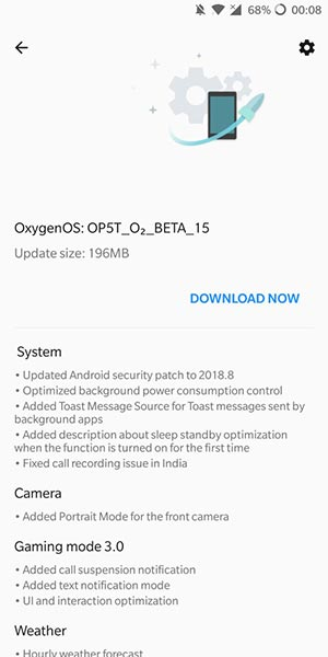 OnePlus 5/5T OxygenOS Open Beta 17/15 OTA