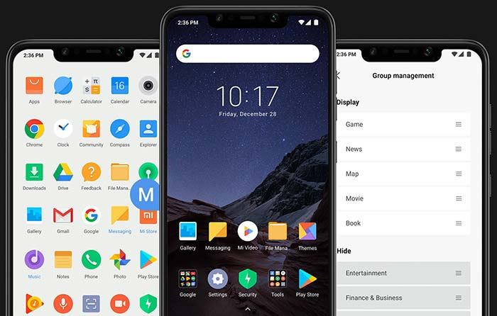 Poco F1 Software - MIUI based on Android 8.1 Oreo with Poco Launcher