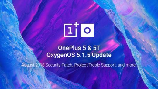 Stable OxygenOS 5.1.5 Update for OnePlus 5/5T Brings Project Treble Support