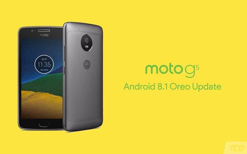 Moto G5 Android 8.1 Oreo Update